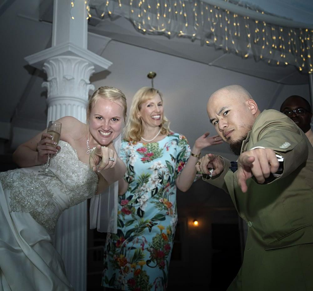 eastern shore wedding of bride dancing