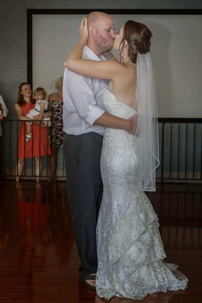 eastern shore weddings photo of couple dancing at wedding reception