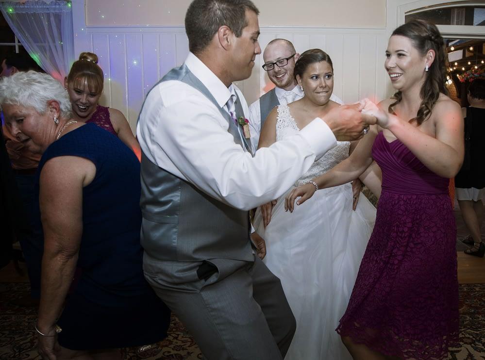 eastern shore weddings guest dancing a wedding reception