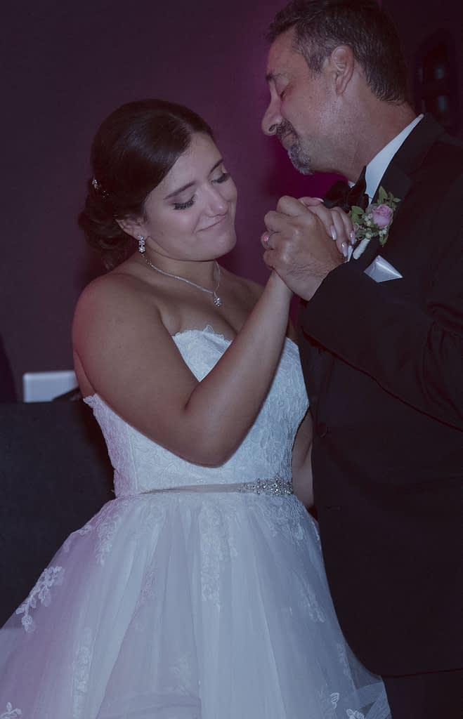 eastern shore weddings photo of bride and father dancing at first dance