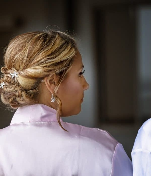 Eastern shore weddings bride maid hair