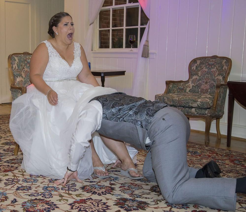 eastern shore weddings photo of garter toss