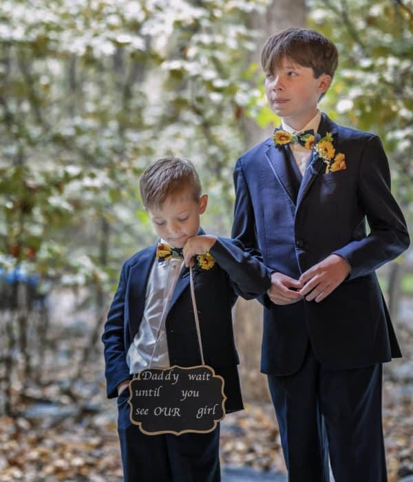 eastern shore weddings photo of ring bearer during ceremony