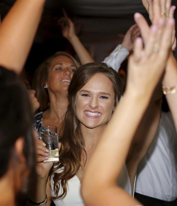 eastern shore weddings photo of bride dancing