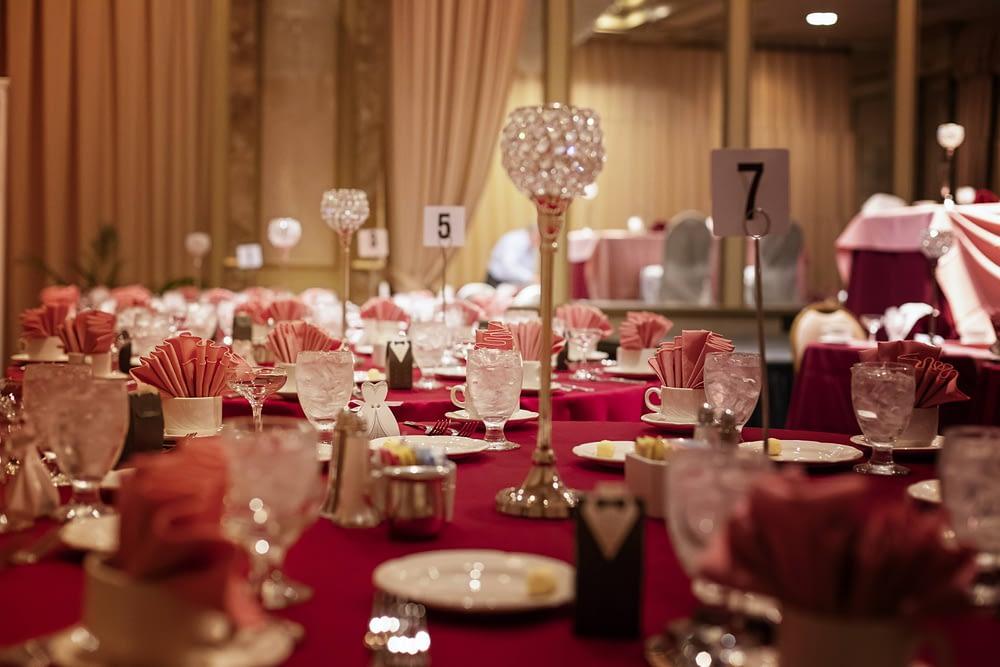 Eastern Shore Weddings photography of table settings