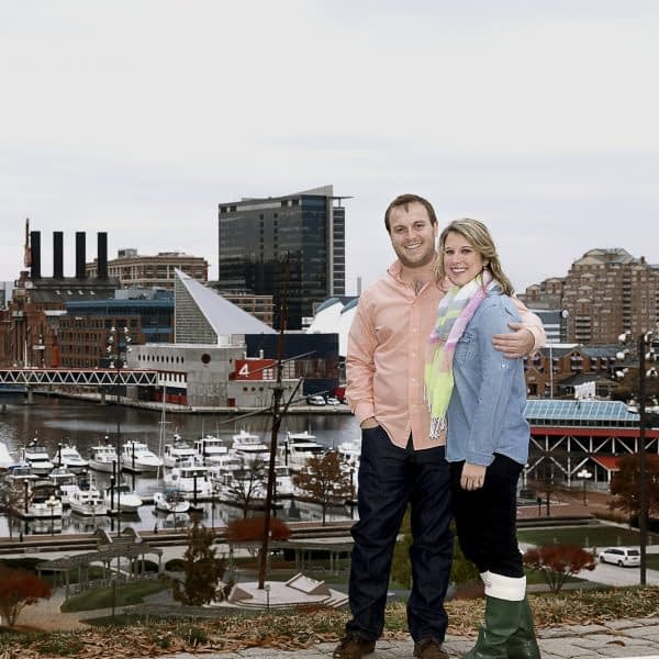 couple standing in Inner harbor